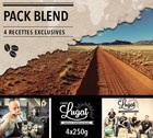Pack Blend Cafés Lugat (4 cafés en grains x 250g)