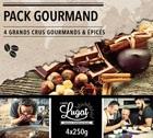 Pack Gourmand Cafés Lugat (4 cafés en grains x 250g)