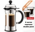 Cafetière à Piston New Chambord 35 cl + offre cadeaux - Bodum