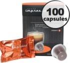 Italiano x 100 Caffè Impresso compatible Nespresso