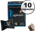Capsule Espresso Dec Caff� Vergnano x10 pour Nespresso