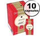 Capsules compatibles Nespresso Biospresso Stretto x10 Destination