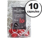 Capsules 100% Arabica (Force 10) x 10 Taillefer pour Nespresso