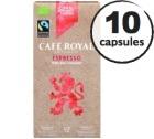 Capsules Café Royal Espresso 100% Bio/Faitrade x 10 pour Nespresso