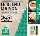 Capsules Le Blend Maison Cafés Lugat x10 pour Nespresso