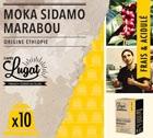 Capsules Moka Sidamo Marabou Cafés Lugat x10 pour Nespresso