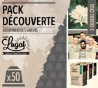 Pack d�couverte - Capsules Caf�s Lugat x50 pour Nespresso