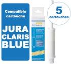 5 Cartouches BestCup BLUE compatible Jura ENA Claris BLUE