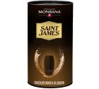 Boîte de 25 chocolats noirs à la liqueur de Rhum St James - Monbana