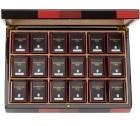Coffret thé Chorus en bois laqué - 18 boîtes métal - Dammann