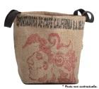 Panière en Toile de Jute et coton avec anse noir - L - Lilokawa