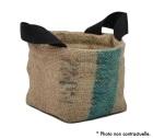 Panière en Toile de Jute et coton avec anse noir - S - Lilokawa