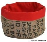 Corbeille en Toile de Jute et doublure coton rouge - M - Lilokawa