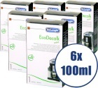 Lot de 6 Détartrants Delonghi EcoDecalk pour machine expresso - 6 x 100 ml
