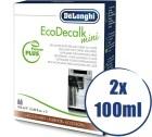 Lot de 2 détartrants Delonghi EcoDecalk pour machine automatique - 2 x 100ml