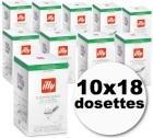 Dosette café illy espresso 'sur emballées' décaféiné 10x18