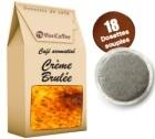 Café dosettes souples aromatisé crème brulée x 18
