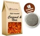 Café dosettes souples aromatisé caramel noix x 18