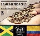 Lot de 2 cafés Grands Crus (mouture filtre) : Geisha/Blue Mountain - 2x125g - Cafés Lugat