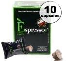 Capsule Espresso Lungo Intenso Caffè Vergnano x10 pour Nespresso