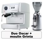 Lot Oscar argent + Moulin � caf� Grinta chrome - Nuova Simonelli