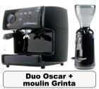 Lot Oscar noire + Moulin � caf� Grinta noir - Nuova Simonelli