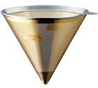 Filtre conique permanent en inox/or Cores pour Chemex 6-8 tasses