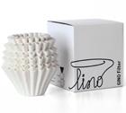 Filtres papier blanc Gino K02 fond plat x 100