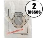 Filtre à thé 100% coton 2 tasses
