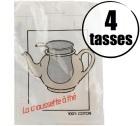Filtre � th� 100% coton 4 tasses