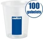 100 Gobelets plastiques transparents 16 cl Lavazza
