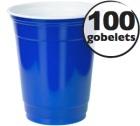 100 gobelets américains bleus - 50 cl (blue cups officiels)