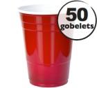 50 gobelets am�ricains rouges - 50 cl (red cups officiel)