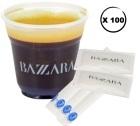 Kit café Bazzara : 100 gobelets + touillettes + sucres