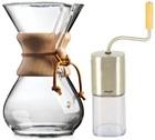 Kit Chemex n�1 : Chemex 6 tasses + moulin + 100 filtres