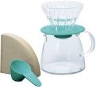 Kit Hario V60 2 tasses turquoise