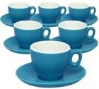 6 Tasses et sous-tasses en porcelaine bleues Inker de 7 cl pour espresso