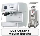 Lot Oscar argent Nuova Simonelli + Moulin à café Eureka