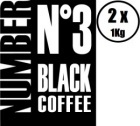 2 x Caf� en grains Number N�3 Black Coffee 100% Arabica - 1Kg