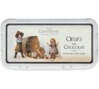 Bo�te de 18 oeufs en chocolat (noir/lait/blanc) - 235gr - Caf� Tasse