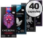 Pack découverte - 40 capsules (Pure Origine/Edition Limitée) Café Royal pour Nespresso