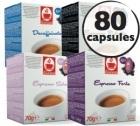 Pack découverte - 80 capsules compatibles Lavazza a Modo Mio® (Deca, Seta 100% Arabica, Ristretto, Forte)