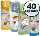 Sélection découverte 40 Capsules Caffitaly (100% Arabica et Décaféiné)