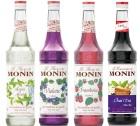 Pack découverte Sirops Monin (Mojito, Violette, Framboise, Thé Chaï) - 4x70cl