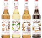 Pack découverte Sirops Monin (Caramel Salé, Vanille, Spéculoos, Chocolat Cookie) - 4x70cl