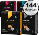 Pack découverte - 144 dosettes souples Café Royal