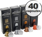 Pack découverte Pellini - 40 capsules pour Nespresso