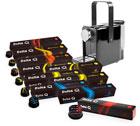 100 capsules Delta Q + Machine Delta Qosy Noir à prix de fou