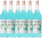 6 x Sirop Monin - Menthe Glaciale - 1 l