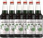 6 x Sirop Monin - Menthe - 1L